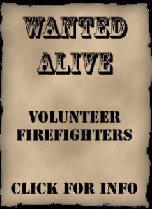 Volunteer Firefighters Wanted